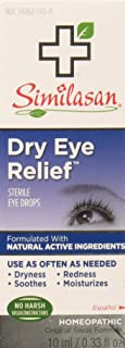 Similasan Dry Eye Relief Sterile Eye Drops, 0.33 Fl Oz, Pack of 3