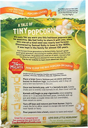 Product Image 3: Tiny But Mighty Heirloom Popcorn, Healthy and Delicious, Unpopped Kernels, 1.25lb Bag