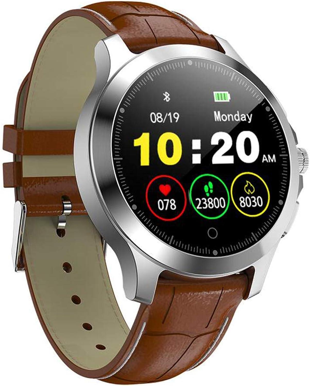 FSM88 Sport-Multifunktions-Tracker, intelligente Sportuhr, Herzfrequenz-Blautdrucküberwachung, Paar-Geschenk-Uhren, IP67 Life Waterproof Treatment,braun