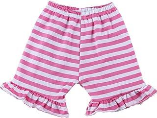 Wennikids Baby Girl Stripe Cotton Ruffle Girl Shorts