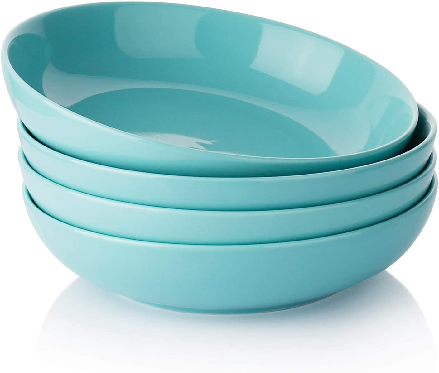 Turquoise and off white bowl