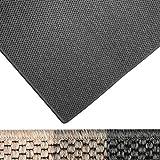 casa pura Moderner Teppich in Premium Sisal Optik | ausgezeichnet mit GUT-Siegel | pflegeleichtes Flachgewebe | viele Größen (anthrazit, 100x150 cm)