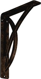 """Ekena Millwork BKTM01X07X10SMIABZ Metal Bracket, 1 1/2"""" W x 7 1/2"""" D x 10"""" H, Antiqued Bronze"""