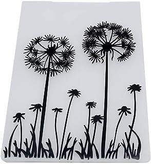 PULABO Chemise en plastique pour gaufrage Motif fleurs Papillon DIY Carte Scrapbooking Décor Pissenlit Créatif et exquis T...