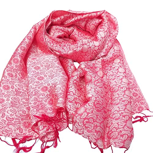 women's scarf silk from silkworm handcrafted with unique and luxurious motifs in Vietnam