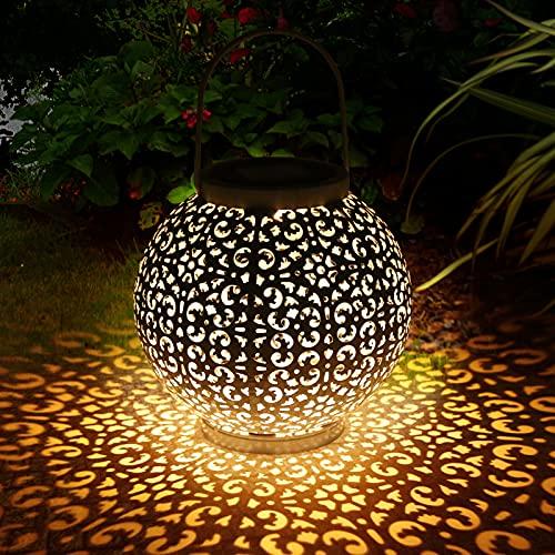 Zorara Solarlaterne für außen, LED Solar Laterne Hängende für Draußen, Solarlampe Outdoor Dekorationen für Weg Garten Patio Terrasse und Hof Weihnachten