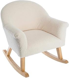Atmosphera fotel bujany w pastelowym kolorze na drewnianych