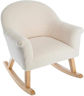 atmosphera fauteuil a bascule mouton