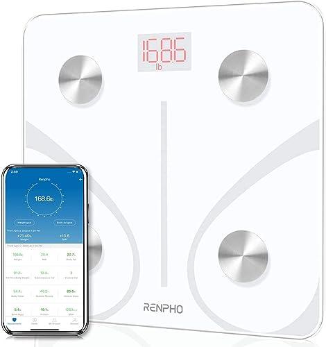RENPHO Body Fat Scale Smart BMI Scale Digital Bathroom Wireless Weight Scale, Body Composition Analyzer with Smartpho...