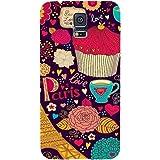 Casotec Paris Flower Love Design Hard Back Case Cover for Samsung Galaxy S5