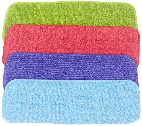 4 Pack Microfiber Cleaning Pads Replacement Mop Pads Reveal Mop Pad Spray Mop Heads Fit for All Fit All Spray Mops and Reveal Mops (4 Pack Reveal Mop Pad) (4 Pack Reveal Mop Pad, 4 Count (Pack of 1))