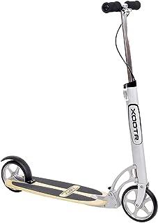 XOOTR Cruz 青少年/成人踢踏板车 - 承重 800 磅 - 寿命长背衬 - 快速点击闩锁折叠装置 - 前后刹车