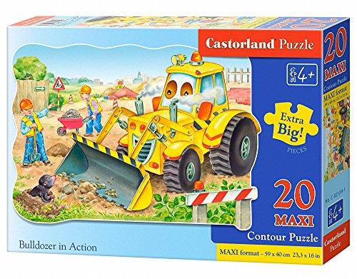 Castorland C-02139-1 - Bulldozer In Action, 20-delig maxi, klassieke puzzel