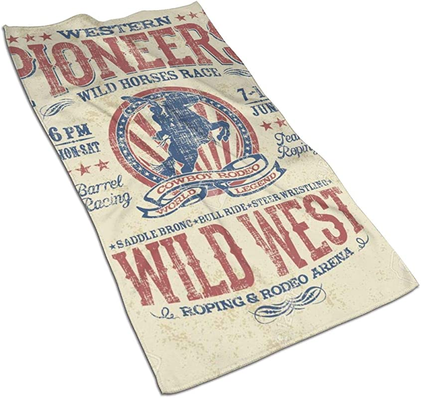NFURTIDH Western Pioneers Rodeo Microfiber Dish Towel 27 5 X 17 5 Inch Soft Super Absorbent Home Kitchen Towels Cloths For Spills Drying Dishes Cooking Wash Car Dish Towels