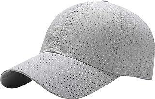 AIEOE - Gorro Deportivo de Tenis para Hombres Gorra Delgada Transpirable para Playa de Color Sólido Sombrero Secado Rápido...
