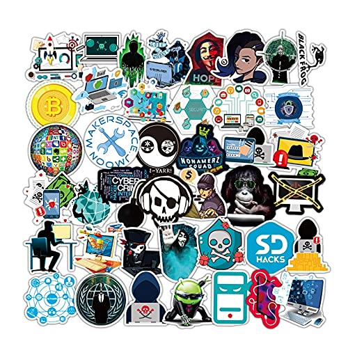 Logo Series Laptop Scooter Impermeable DIY Pegatina 50 Piezas