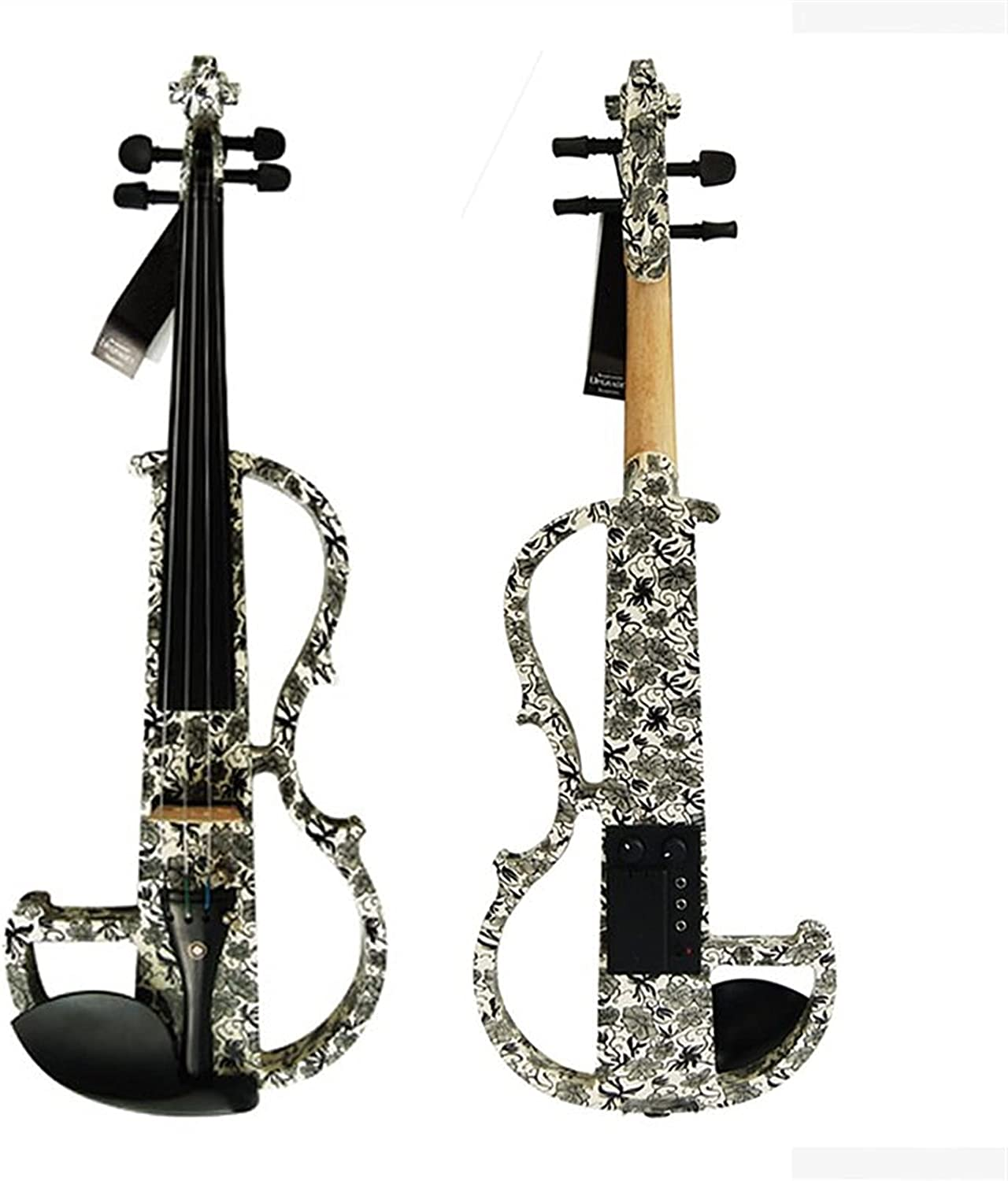Violin Model Advanced Electric Super beauty product restock quality top Art Wo Black Solid White Max 74% OFF