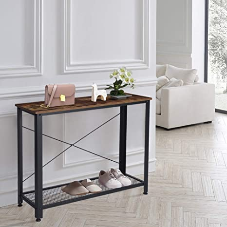 Console Table Console Tables for Entryway Industrial Entry Hallway Table  with Storage Shelf Entryway Sofa Side Table for Living Room Bedroom Balcony