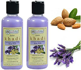 Khadi Rishikesh Herbal Lavender Ylang Ylang Body Wash combo set pack of - 2 x 210 ml (420 ml)