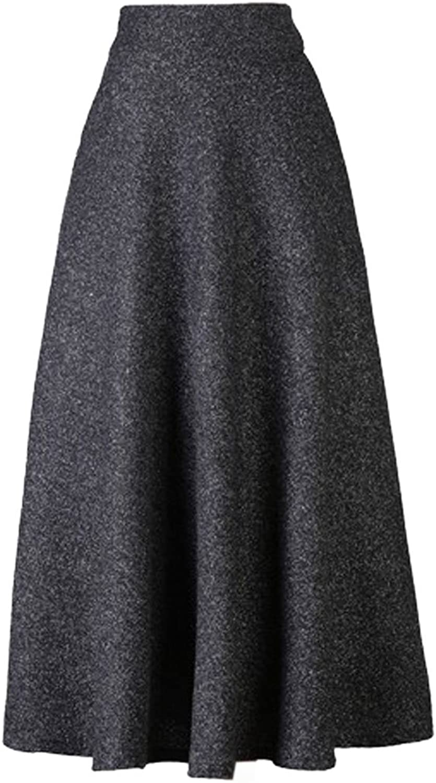 Choies Women's High Waist Aline Flared Long Skirt Winter Fall Midi Skirt