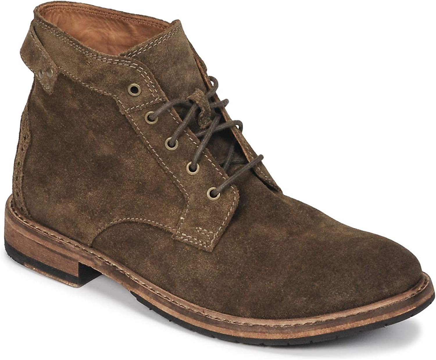 Clarks Mens Clarkdale Bud Khaki Suede Premium Leather G Fit Boots