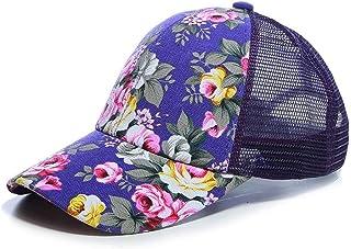 7f0684c8e26424 kigin Unisex Casual Floral Headwear Stretchy Soft Hats Comfort Baseball Cap  Baseball Caps