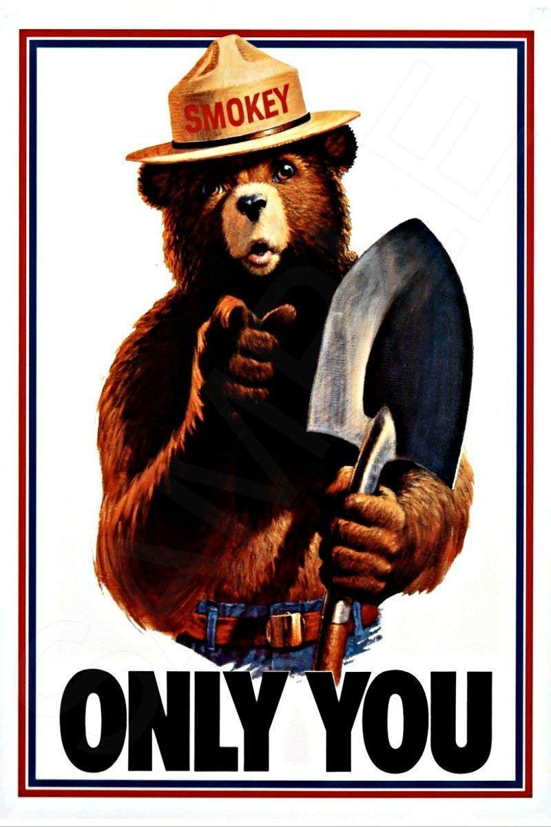 Manufacturer OFFicial shop Smokey Bear All Weather Metal Product Sign Popular products Licensed Officially