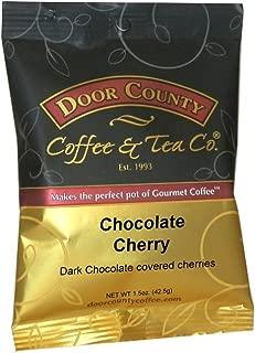 Door County Coffee, Chocolate Cherry, Ground, 1.5oz Full-Pot Bag, 6 Count