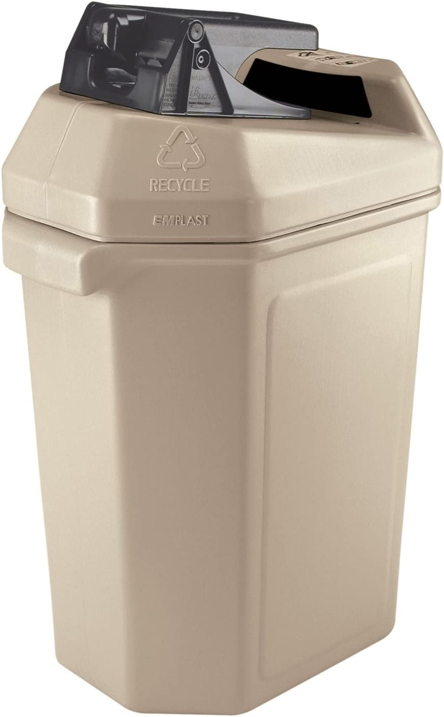 Commercial Zone Canpactor Recycling Container Tulsa Mall gal.- Sales Beige . 30