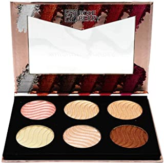 highlighter powder & blusher palette from rose berry