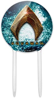 GRAPHICS & MORE Acrylic Justice League Movie Aquaman Logo Cake Topper Party Decoration for Wedding Anniversary Birthday Graduation
