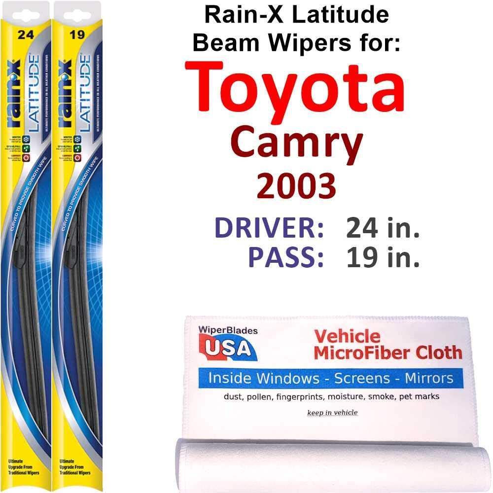 Rain-X Latitude Beam Wiper Blades for 2003 Camry Rain Toyota Set Max 48% Outstanding OFF