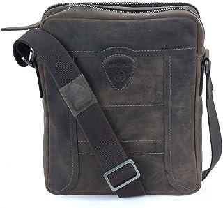 Strellson hunter shoulderbag svz Herren Leder Tasche, Dark Brown, 22,5X28X6