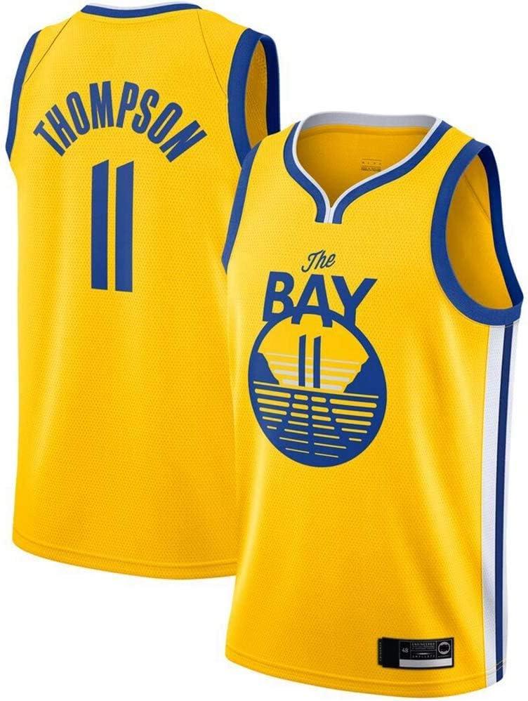 Baloncesto Jersey Guerreros # 11 Klay Thompson Jersey Respirable Fresco Sin Mangas del Chaleco CNMGM NBA Jersey