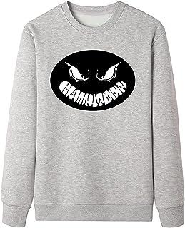 Halloween Sweatshirt هالوين اليقطين مطبوعة البلوز للرجال، الصوف اصطف crewneck سترة البلوز قمم Long Sleeve Shirt (Color : G...