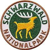 2 x Schwarzwald Nationalpark Abzeichen 60 mm / hochwertig gestickte Aufnäher Aufbügler Sticker Wappen Patches für Kleidung Mode Fashion Taschen Rucksack / Hirsch Geweih Hirschgeweih...