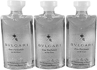 Bvlgari Au The Blanc (White Tea) Shampoo and Shower Gel Travel Size, 2.5 Ounce Bottles - Set of 3