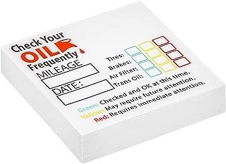 Parts Flix OCS8-50 Style 8 Oil Change Sticker, 50 Pack