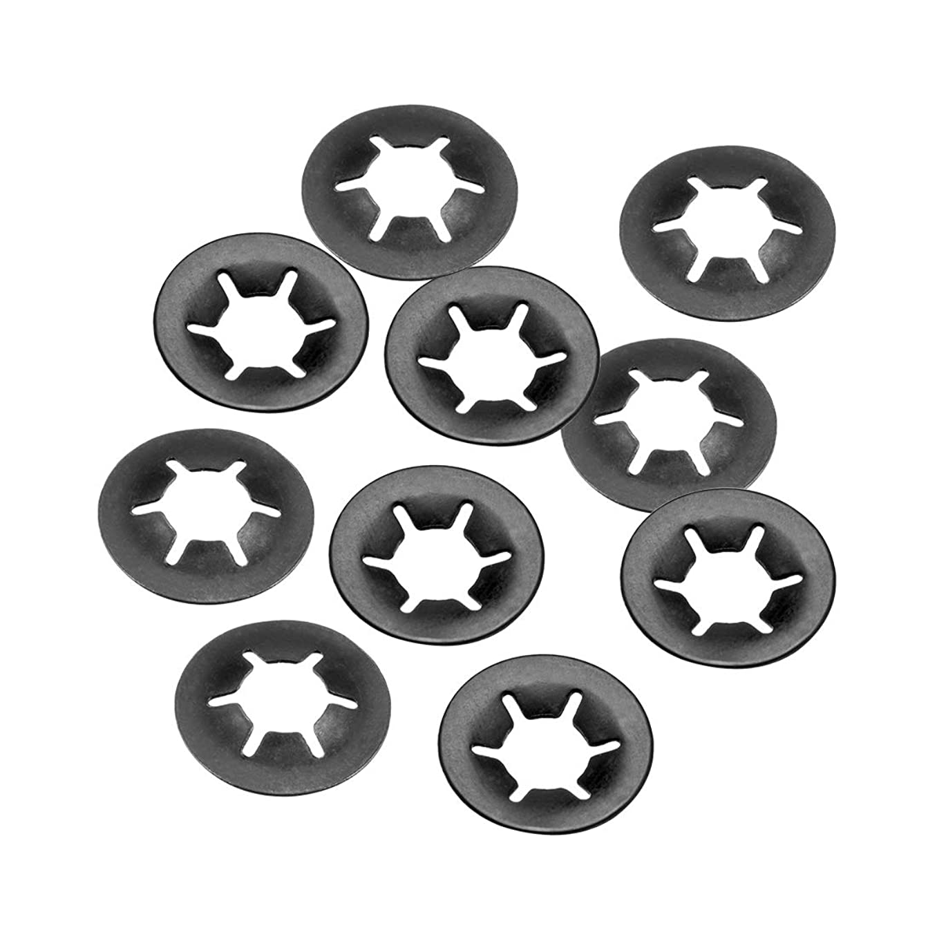 uxcell M6 Internal Tooth Starlock Washer, Push On Lock Washer Locking Washers Clips Fastener, 6mm Inner Dia 14mm Outer Dia, 10pcs