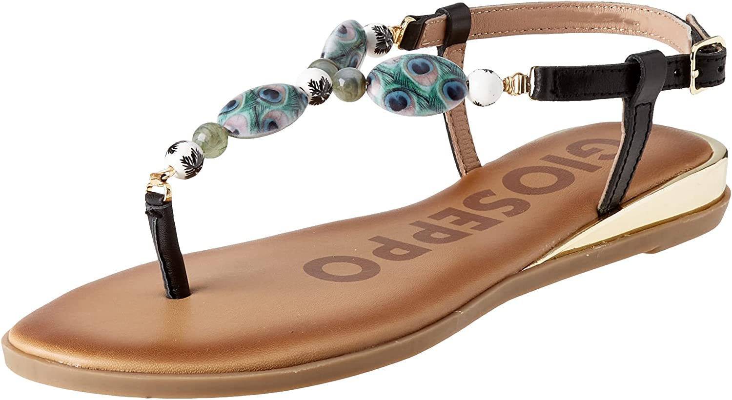 GIOSEPPO 70% OFF Outlet Women's Ankle-Strap Genuine Sandal Flat