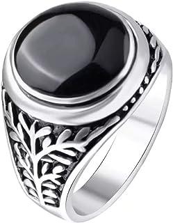 خاتم فضي اللون للرجال