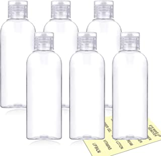 Plastic Travel Bottles,100ml/3.4oz Empty Small Squeeze Bottle Containers for Toiletries With Flip Cap(6 Pack)
