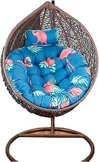 HANSHAN Papasan Amortiguador de la Silla-Mecedora Color Cojines de Aire Libre de Interior-Huevo jardín Hamaca-Amortiguador del Asiento fácil de Limpiar-Diámetro: 120cm (47.24inch) (Color : G)