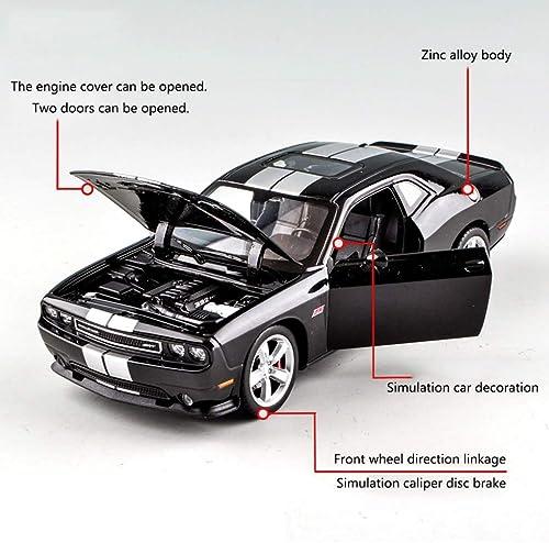 marcas de moda YaPin Model Car 1 24 24 24 Dodge Dodge Challenger Muscular Aleación Modelo de Coche Decoración de Metal Colección Adulta Juguetes para Niños ( Color   negro )  tienda en linea