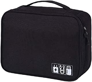 Universal Cable Organizer Bag for Travel and Houseware Storage- BLACK