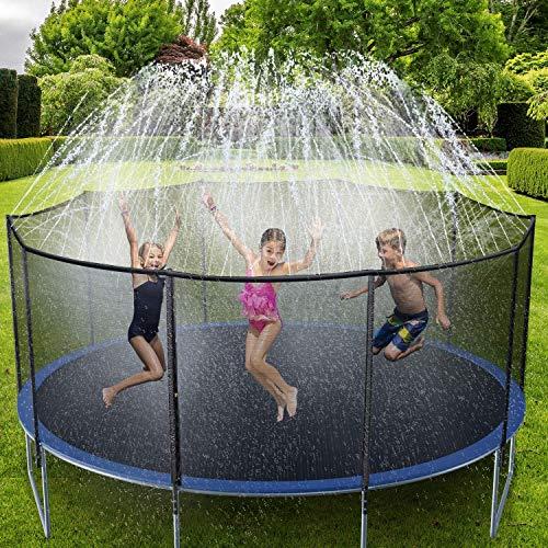 Ohuhu Rociadores de Agua para niños Conjunto de tuberías de Lanzamiento de Agua Multifuncional, Seguro y Duradero de 15 m