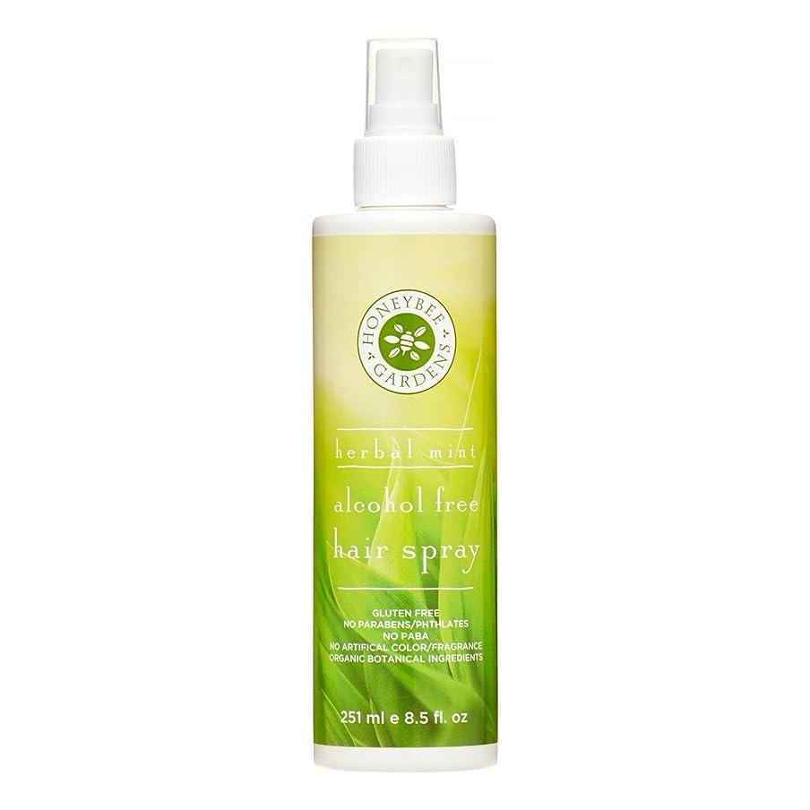 長々と花輪争うHoneybee Gardens, Alcohol Free Hair Spray, Herbal Mint, 8.5 fl oz (251 ml)