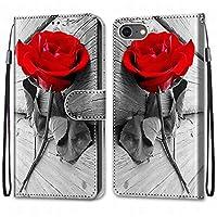 Laybomo Apple iPhone 7 iPhone 8 ケース カバー 手帳型, [カードスロット]および[キックスタンド]付きの磁気閉鎖完全保護設計ウォレットフリップ 財布型カバー対応 Apple iPhone 7 iPhone 8電話ケース, 塗る 4