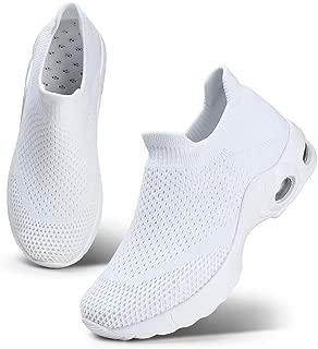 STQ Women Walking Shoes Slip On Sneakers Casual Trainer