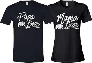 Texas Tees Matching Shirt for Couples Mom & Dad, Includes Papa Bear Shirt & Mama Bear Shirt